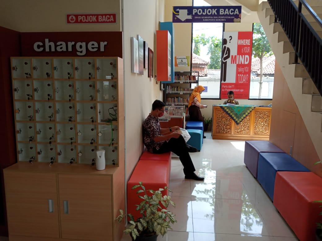 Pojok Baca Disarpus Kebumen di Mall Pelayanan Publik (MPP) Kabupaten Kebumen