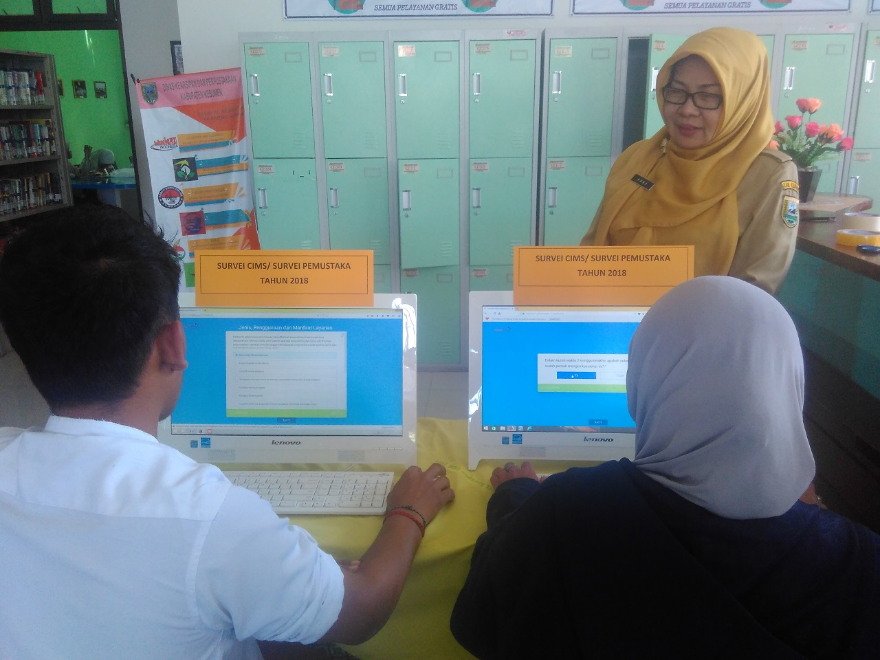 Pelaksanaan Survey CIMS Disarpus Kebumen berbasis Online