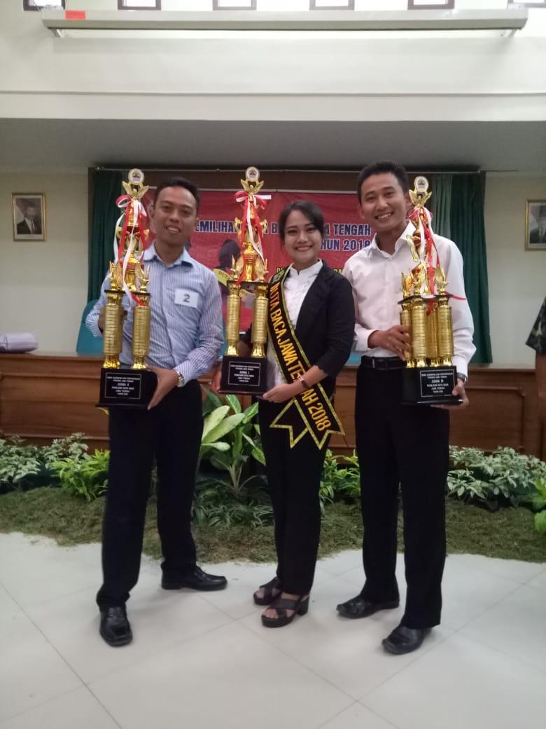 Perwakilan Kabupaten Kebumen Terbaik kedua dalam Pemilihan Duta Baca Provinsi Jawa Tengah Tahun 2018.